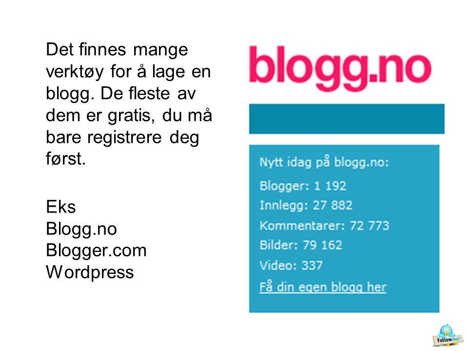 Det finnes mange verktøy for å lage en blogg.