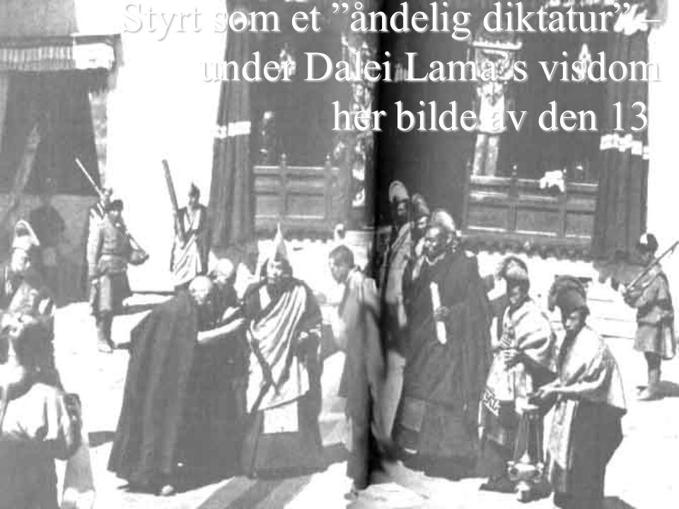 Styrt som et åndelig diktatur – under Dalei Lama's visdom her bilde av den 13 Styrt som et åndelig diktatur – under Dalei Lama's visdom her bilde av den 13.
