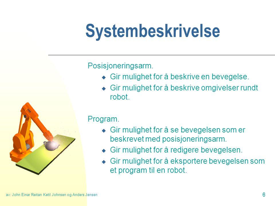 av: John Einar Reitan Ketil Johnsen og Anders Jensen 7 Systemskisse