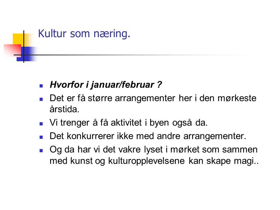 Kultur som næring.  Hvorfor Barents Spektakel, En internasjonal festival på grensen?  Fokus på Kirkenes; BARENTSBYEN I NORD, Sentrum i Barents regio