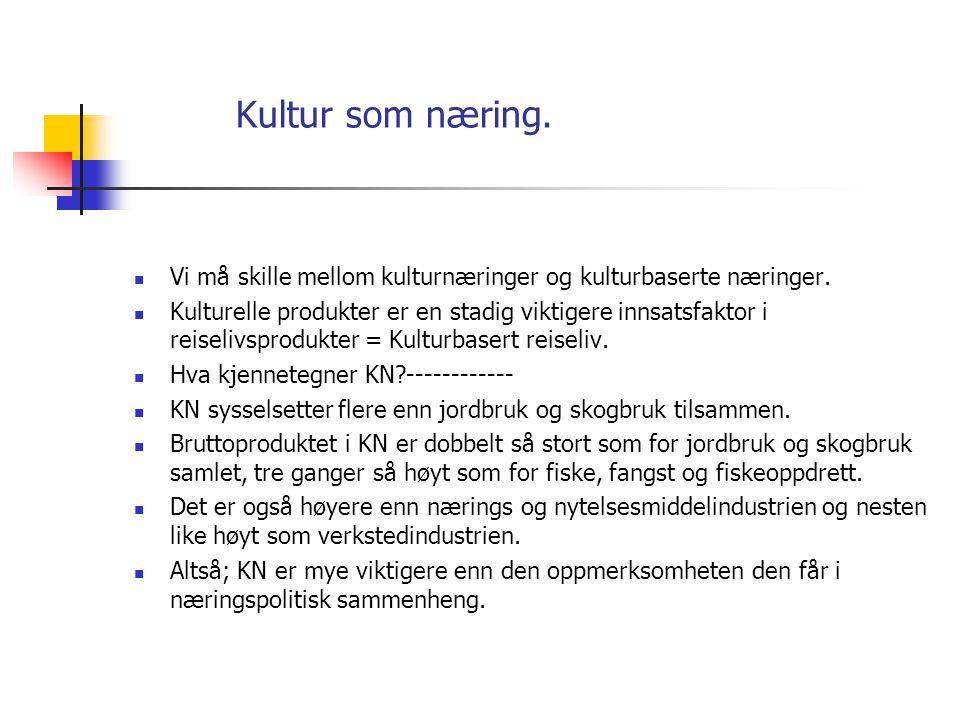Kultur som næring. 6. Arktisk Bållandskap Kirkenes .