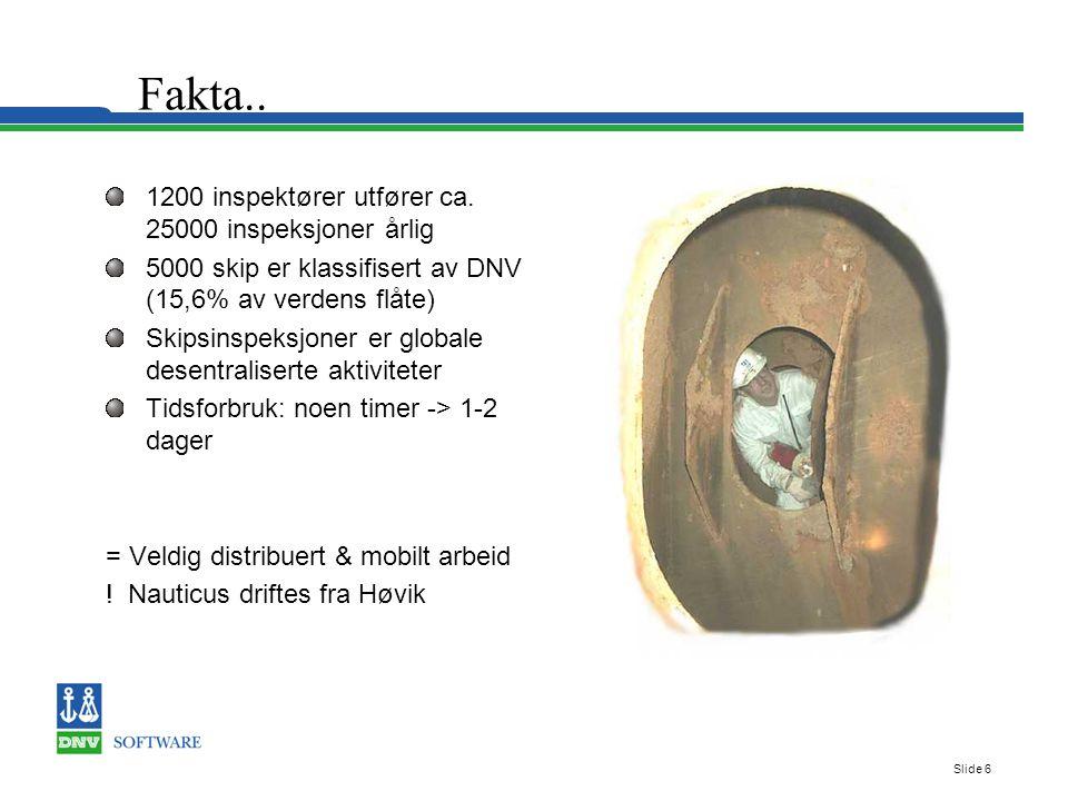 Slide 6 Fakta.. 1200 inspektører utfører ca.