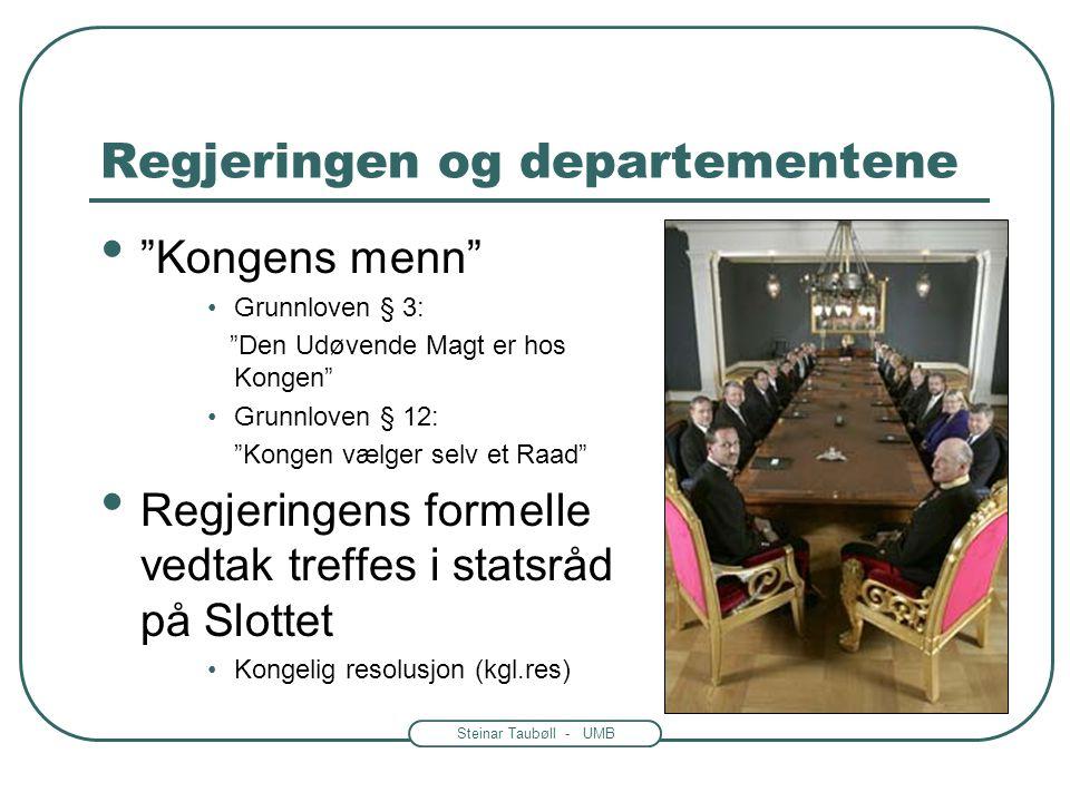 Steinar Taubøll - UMB Hvordan systematisere forvaltningen? • Lokal forvaltning -Kommune eller annet lite område -Statlige, kommunale og fylkeskommunal