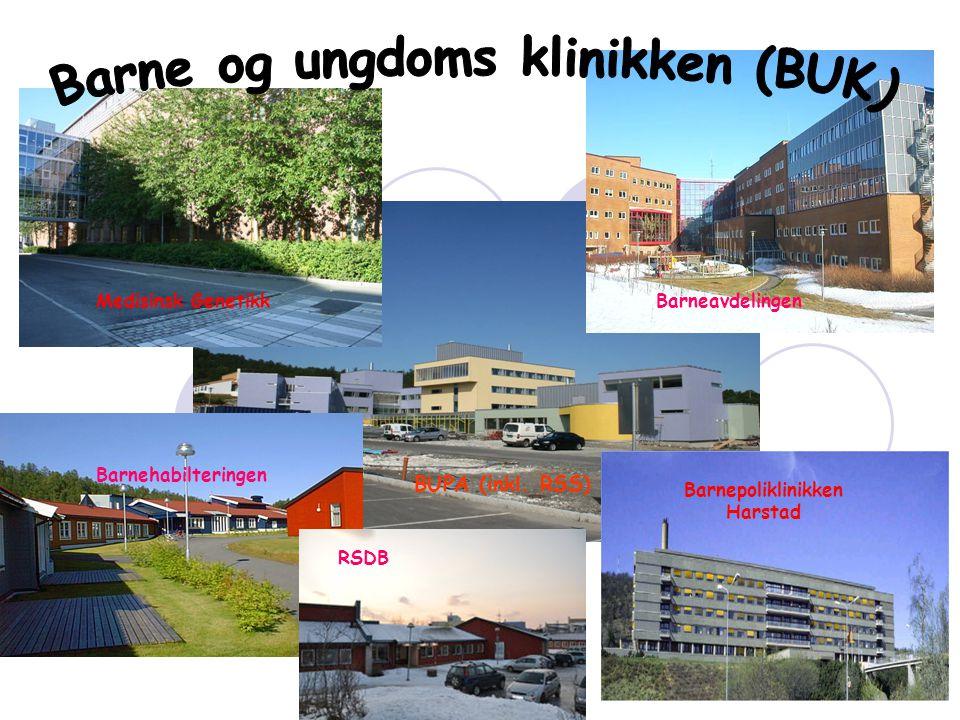 Barneavdelingen Barnehabilteringen Barnepoliklinikken Harstad BUPA (inkl. RSS) Medisinsk Genetikk RSDB