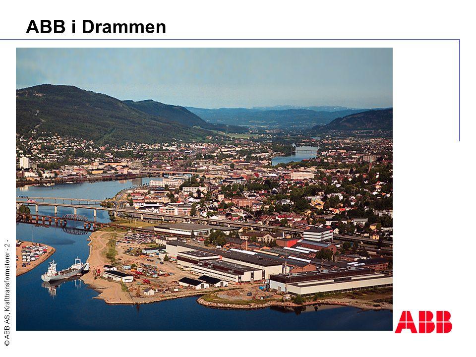 © ABB AS, Krafttransformatorer - 13 - MS Project Web Access - Enkeltprosjekt