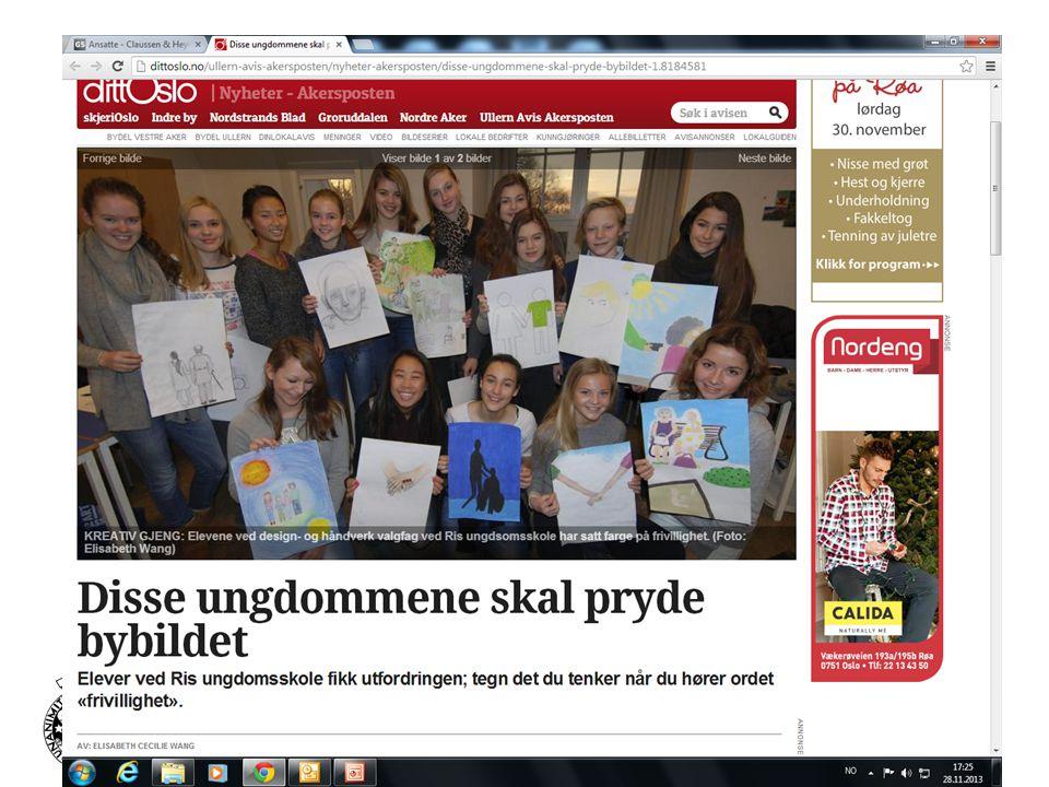 RIS UNGDOMSSKOLE – EN UNIVERSITETSSKOLE Samarbeidsavtale med Universitetet i Oslo styrker kvalifikasjonene for elever og lærere