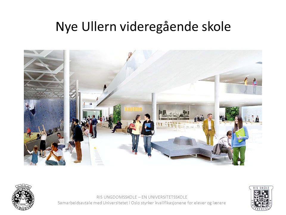 RIS UNGDOMSSKOLE – EN UNIVERSITETSSKOLE Samarbeidsavtale med Universitetet i Oslo styrker kvalifikasjonene for elever og lærere Nye Ullern videregåend