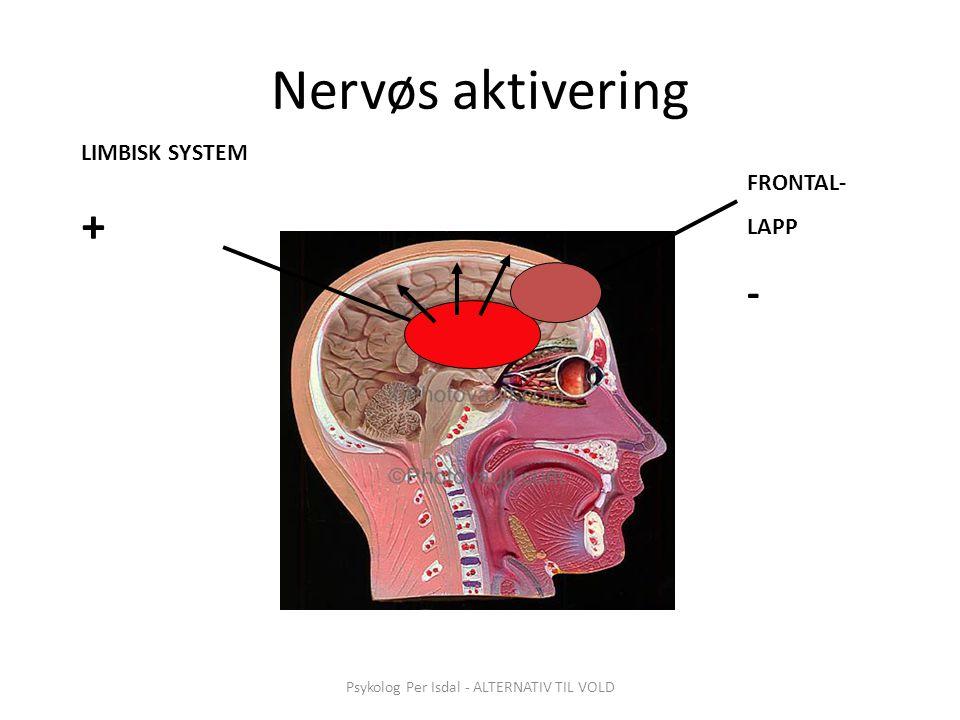 Psykolog Per Isdal - ALTERNATIV TIL VOLD Nervøs aktivering LIMBISK SYSTEM + FRONTAL- LAPP -