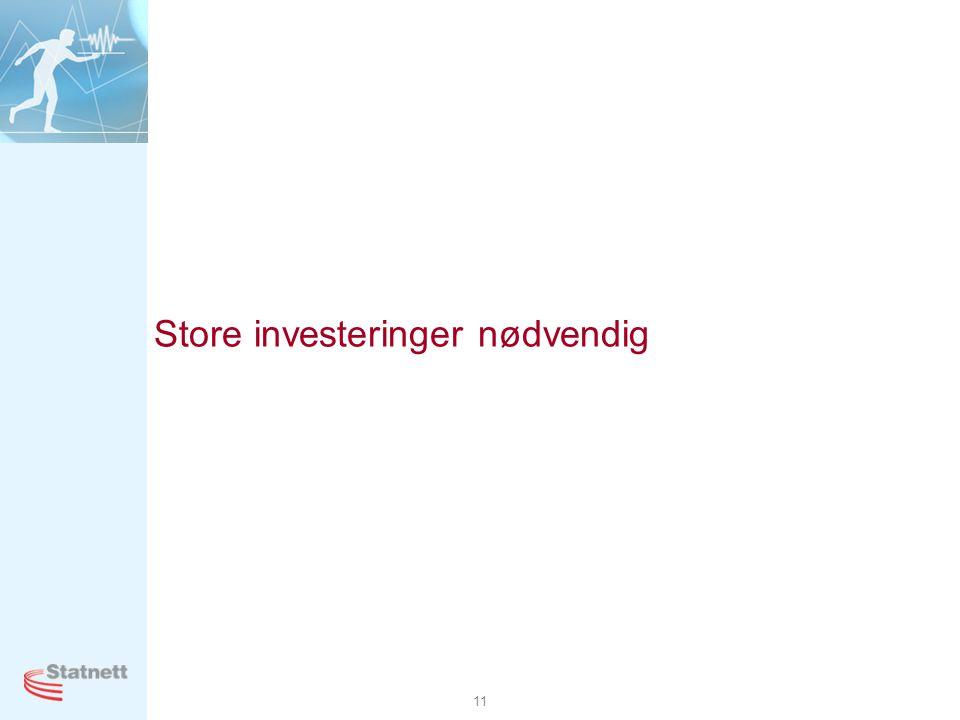 11 Store investeringer nødvendig