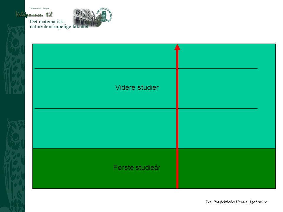 Ved Prosjektleder Harald Åge Sæthre Første studieår Videre studier Fritt etter Vincent Tinto's longitudinal model of institutional departure