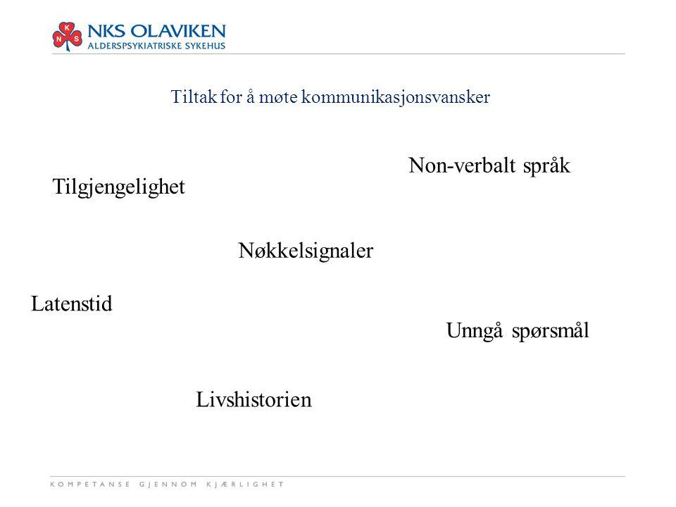 Grunnelementene i funksjonsstøttende kommunikasjon 1.