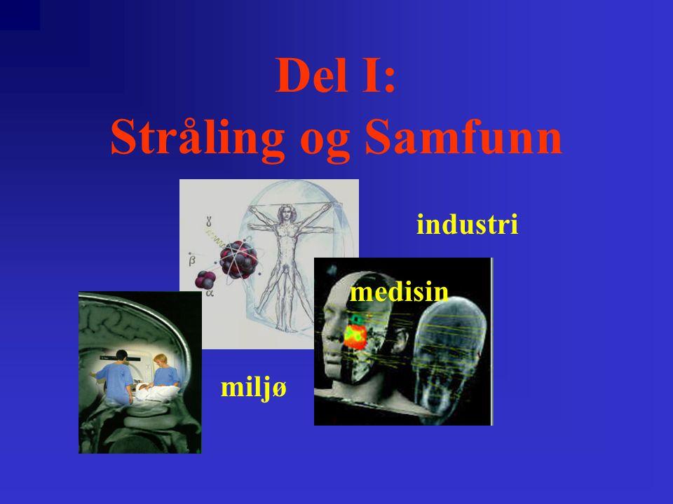 Del I: Stråling og Samfunn miljø industri medisin