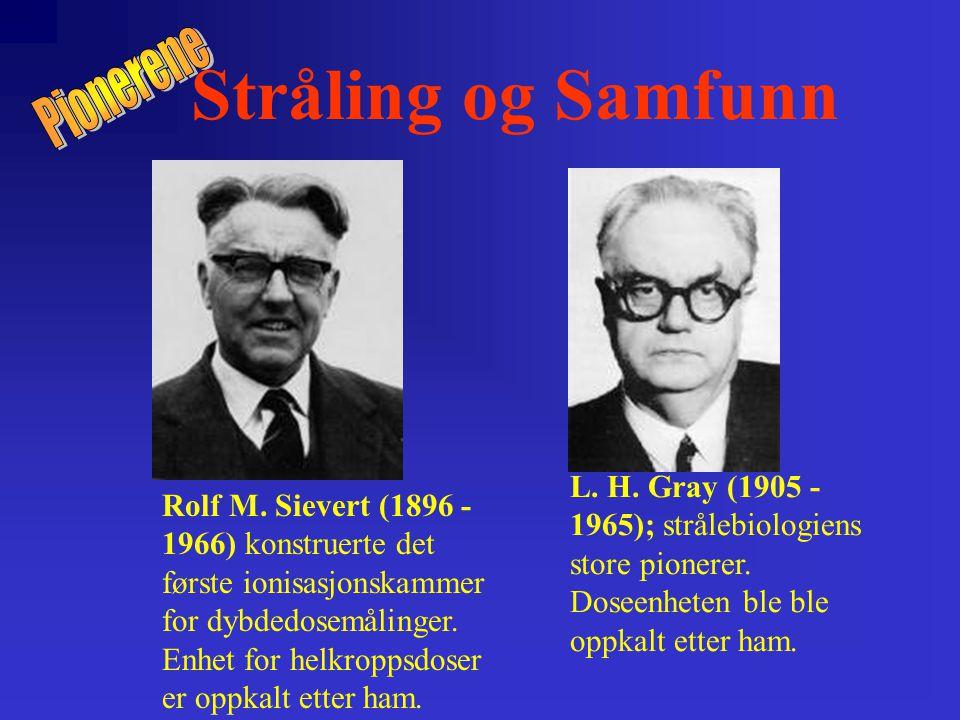 Stråling og Samfunn Rolf M.