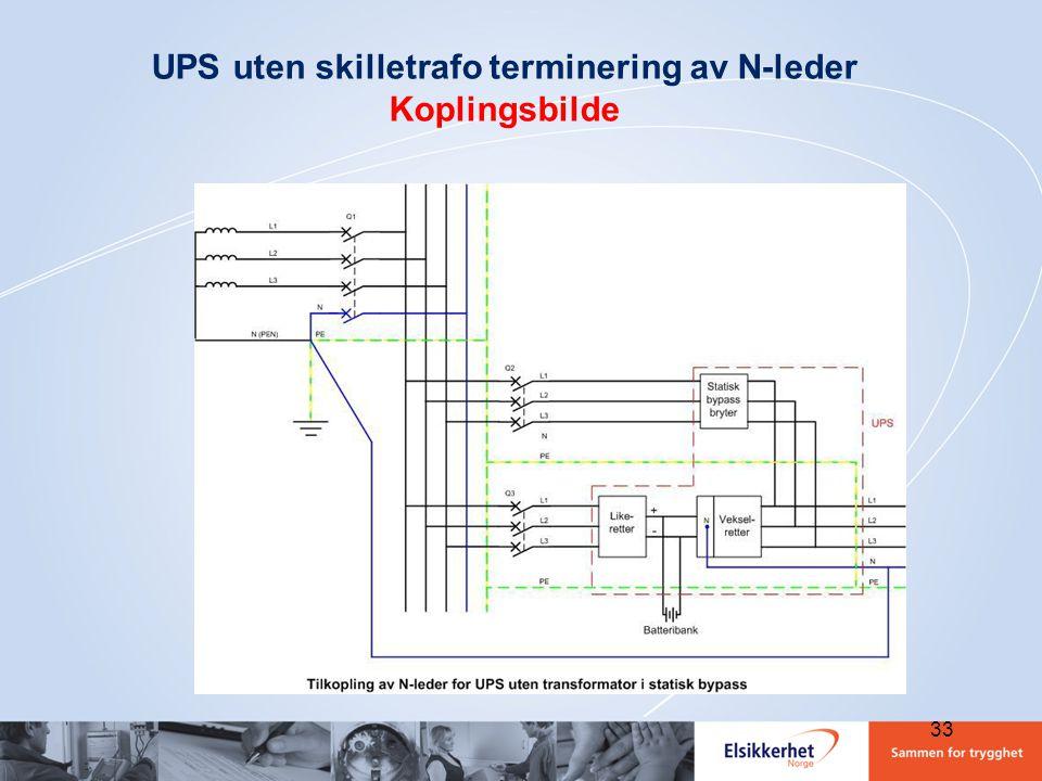 UPS uten skilletrafo terminering av N-leder Koplingsbilde 33
