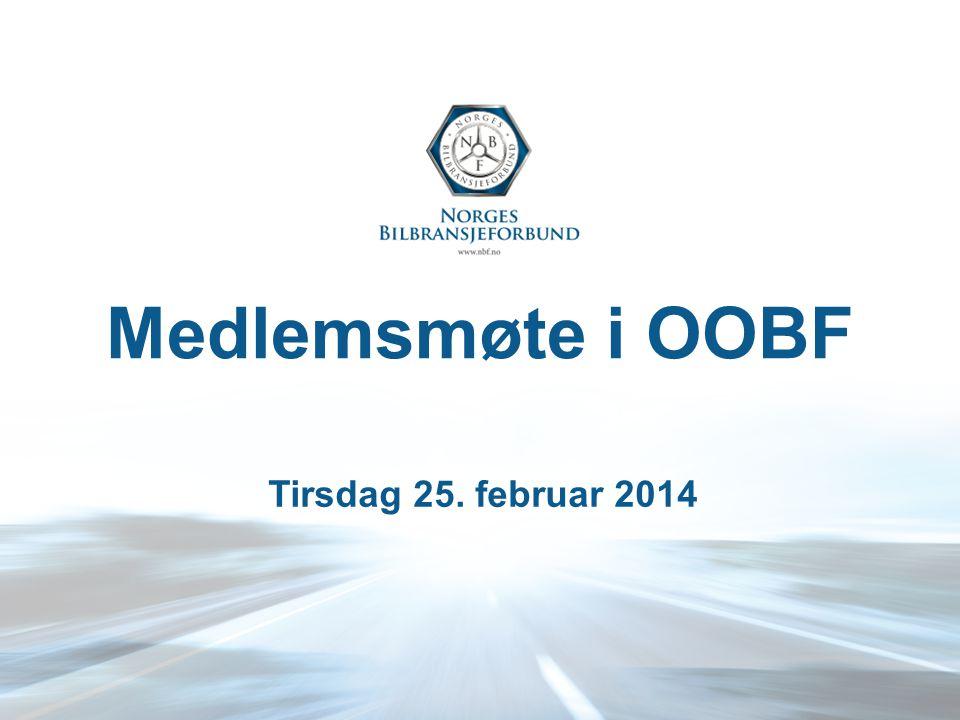 Medlemsmøte i OOBF Tirsdag 25. februar 2014
