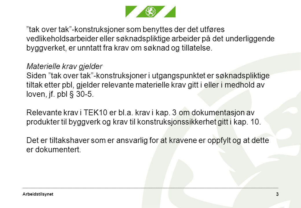 Arbeidstilsynet 4 •Typegodkjenning vs sertifikat - Høringsforslag § 4-1 Krav ved omsetning Stillaser, stiger, rekkverk og komponenter til disse skal være konstruert og produsert i henhold til kravene i denne forskrift før de settes i omsetning.