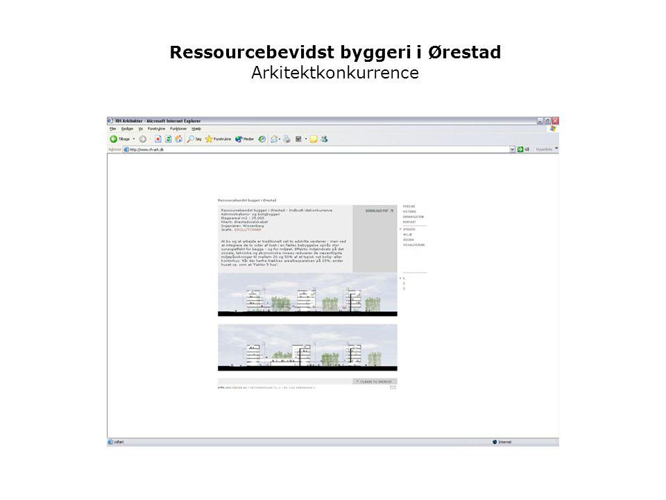 Ressourcebevidst byggeri i Ørestad Arkitektkonkurrence