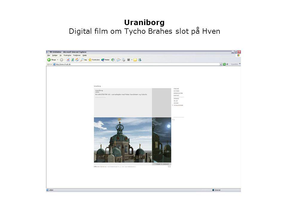 Uraniborg Digital film om Tycho Brahes slot på Hven