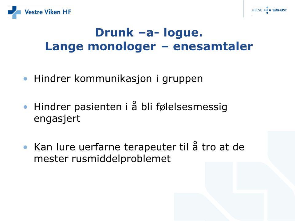 Drunk –a- logue.