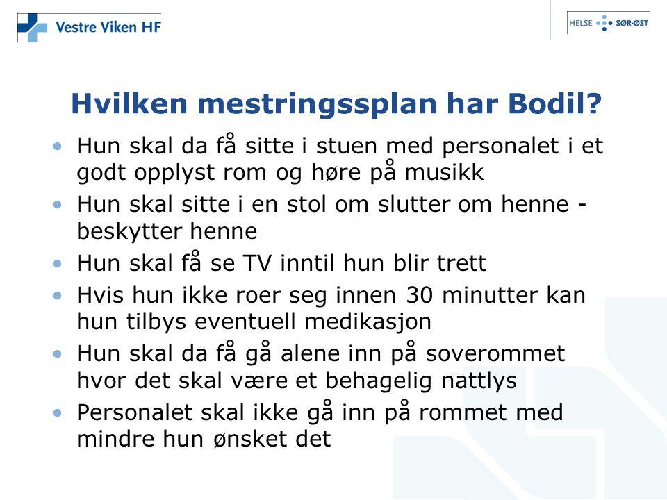 Hvilken mestringssplan har Bodil.