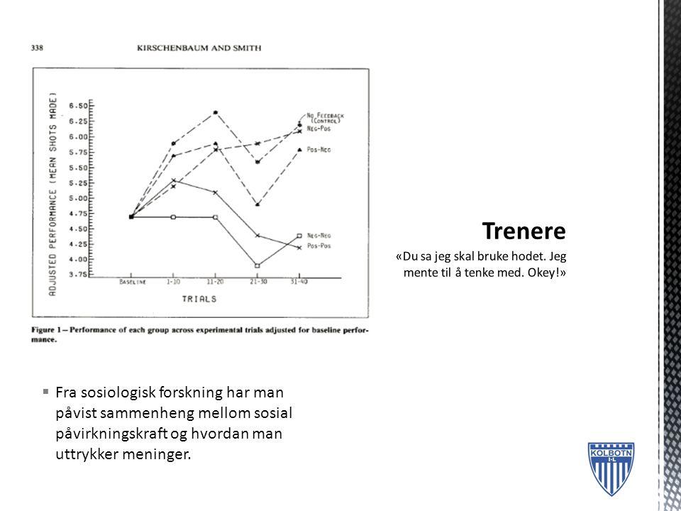  Fra sosiologisk forskning har man påvist sammenheng mellom sosial påvirkningskraft og hvordan man uttrykker meninger.