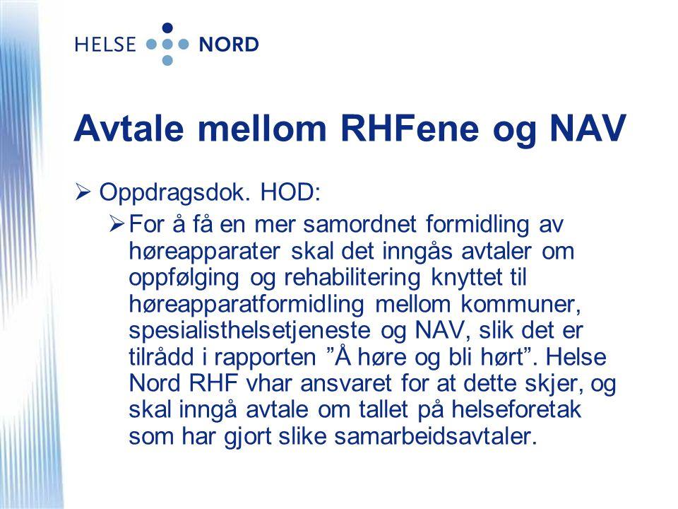 Avtale mellom RHFene og NAV  Oppdragsdok.