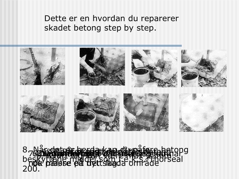 Dette er en hvordan du reparerer skadet betong step by step.