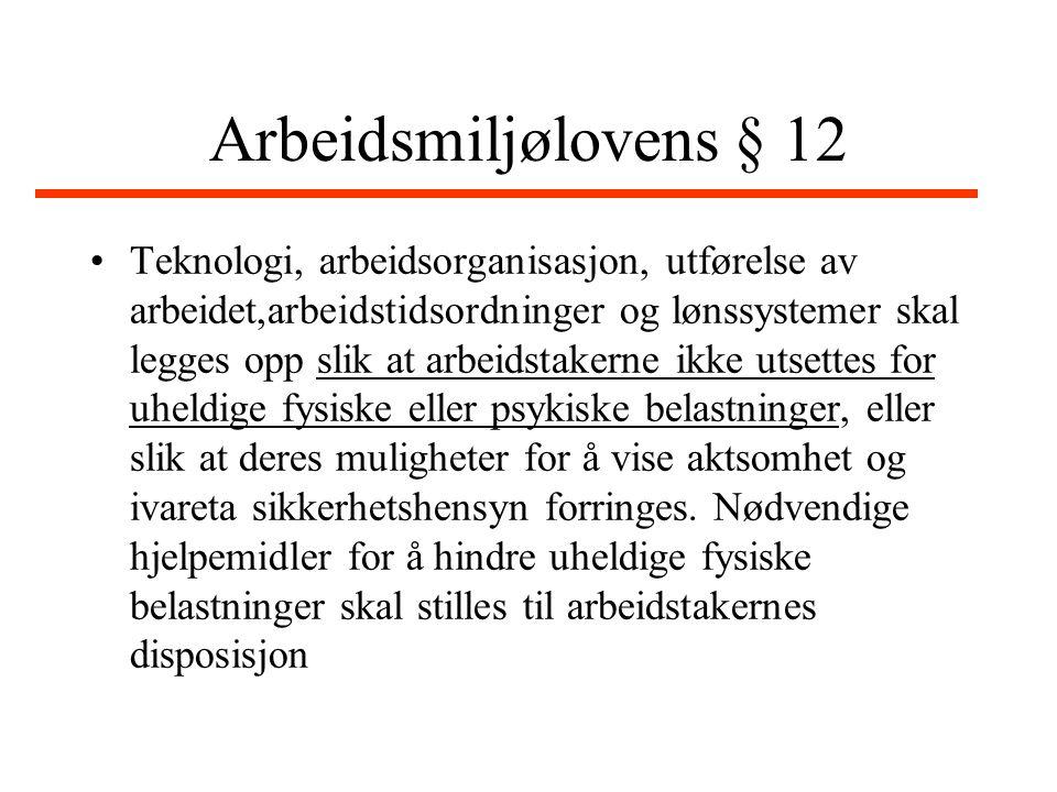 Arbeidsmiljølovens § 13 nr.