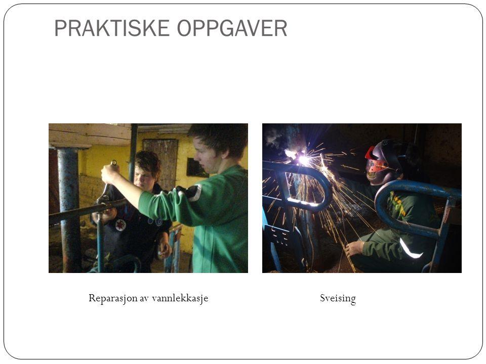 PRAKTISKE OPPGAVER Reparasjon av vannlekkasjeSveising