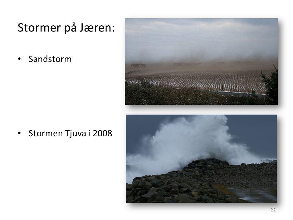 Stormer på Jæren: 22 • Sandstorm • Stormen Tjuva i 2008