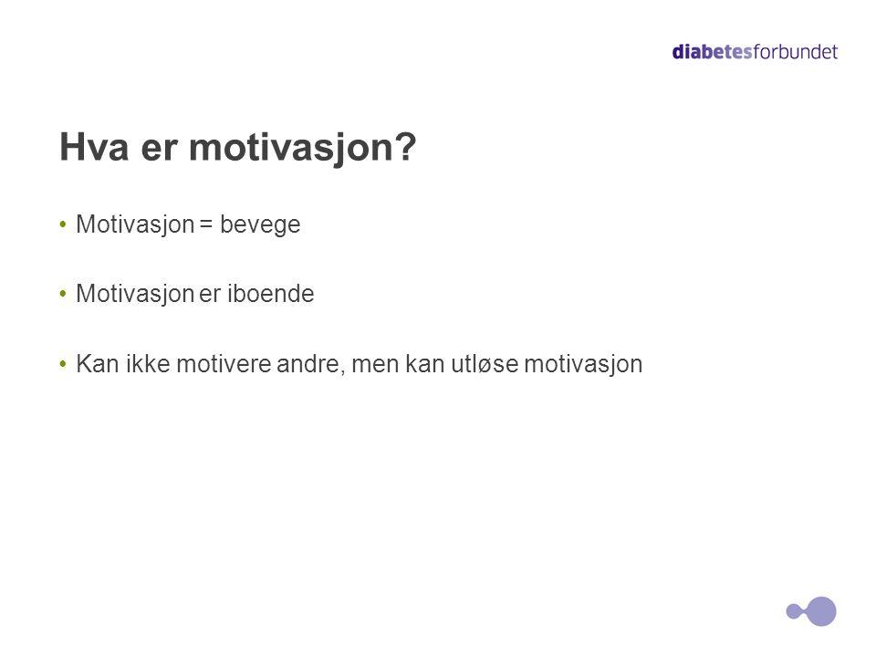 Motivasjon er et ønske Hvem du er Hvem du ønsker å være