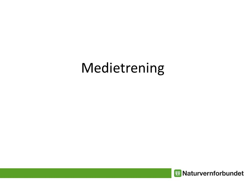 Medietrening