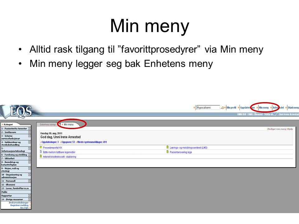 19 •Når du åpner et dokument i EQS vil dokumentet presenteres med to eller flere faner øverst.