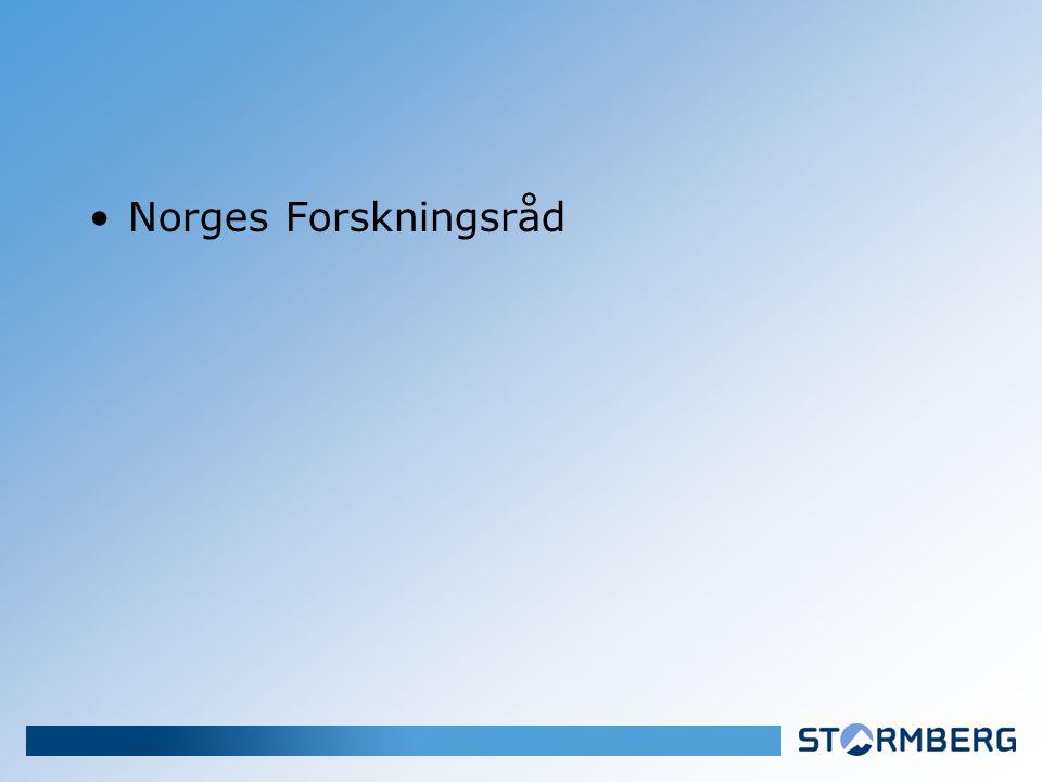 •Norges Forskningsråd