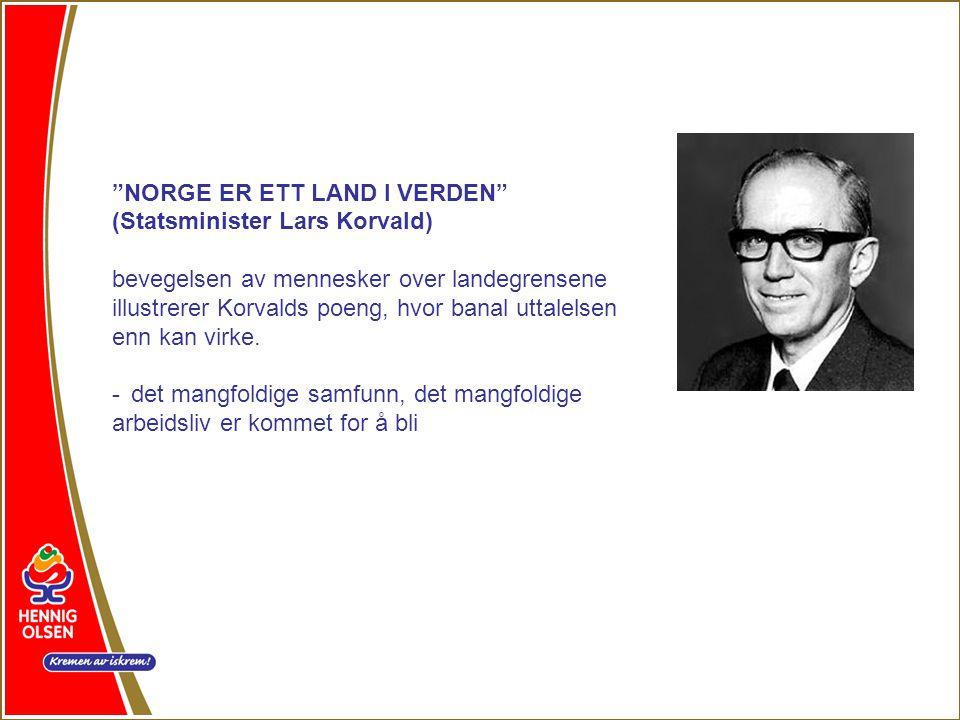 NORGE ER ETT LAND I VERDEN (Statsminister Lars Korvald) bevegelsen av mennesker over landegrensene illustrerer Korvalds poeng, hvor banal uttalelsen enn kan virke.