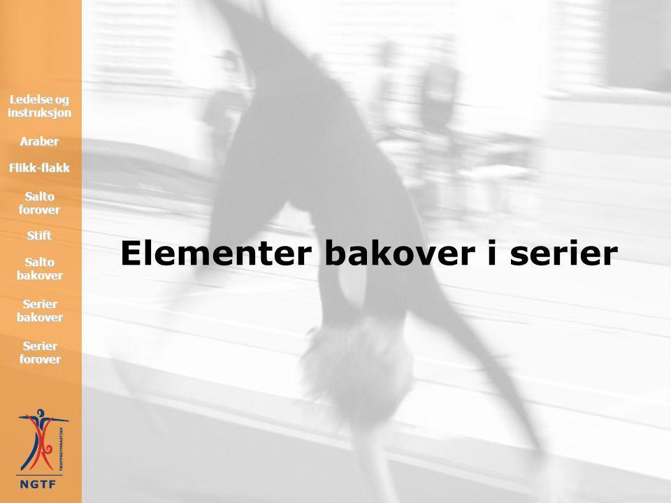 Salto forover Forutsetninger • hvilken posisjon kroppen skal ha i innhoppet er avhengig av hvordan saltoen skal være? • skal saltoen være høy: satse b