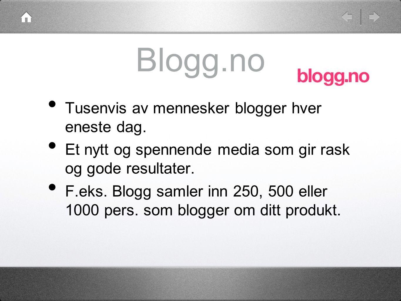 Blogg.no • Tusenvis av mennesker blogger hver eneste dag.
