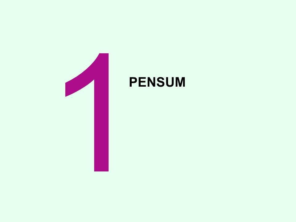 PENSUM 1