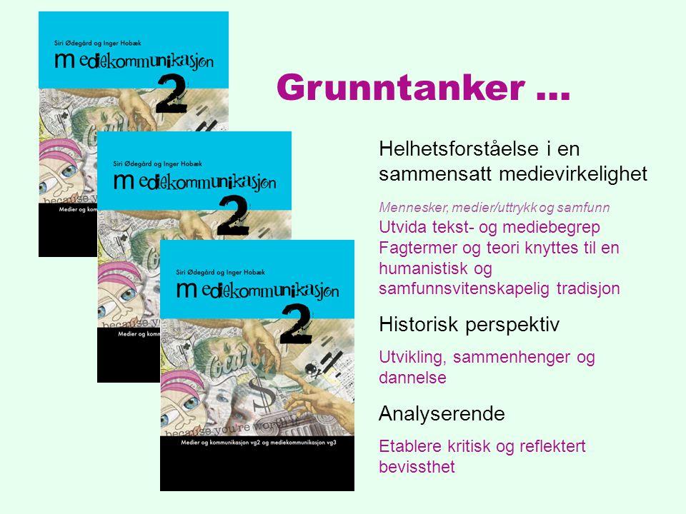 BOKstruktur 1.Menneskene: enkeltindivider og fellesskapet 2.Medier og uttrykksformer 3.Samfunnet