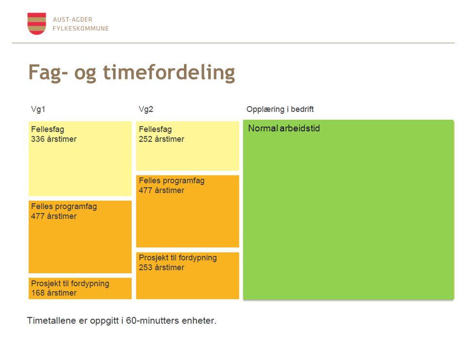 Fag- og timefordeling Normal arbeidstid