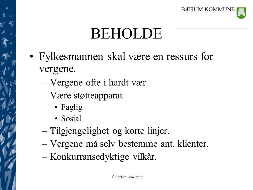 Overformynderiet ALMINNELIGE VERGER •16 igjen i Bærum.