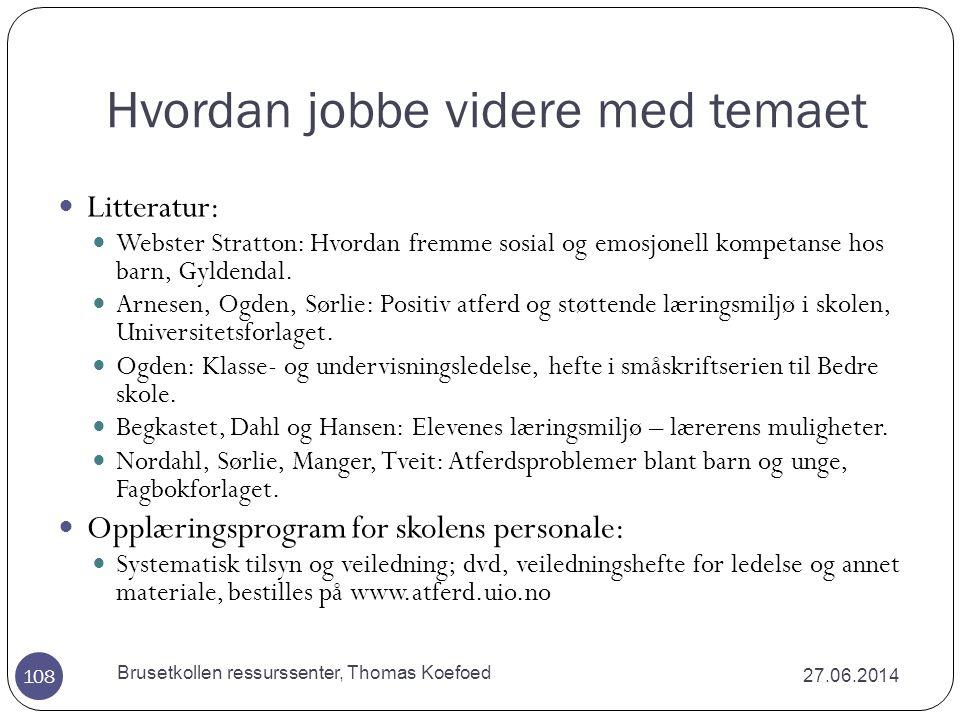 Brusetkollen ressurssenter, Thomas Koefoed Kilder  Hafstad, R.