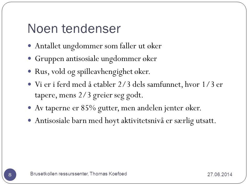Dette medfører analyse av fem systemer.27.06.2014 Brusetkollen ressurssenter, Thomas Koefoed 7 1.