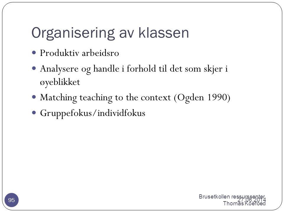 Brusetkollen ressurssenter, Thomas Koefoed Ferdigheter i planlegging og gjennomføring av undervisning  Faglig og mentalt forberedt til å undervise.
