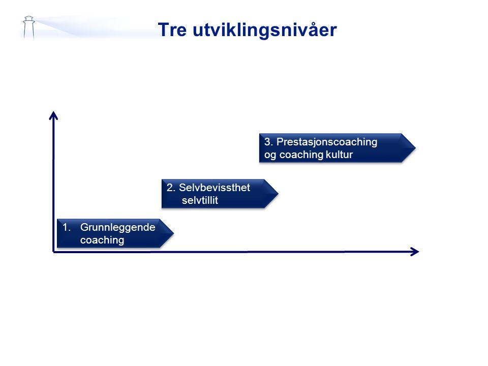 Utviklingsfaser 1.Grunnleggende coaching 1.Grunnleggende coaching 2.