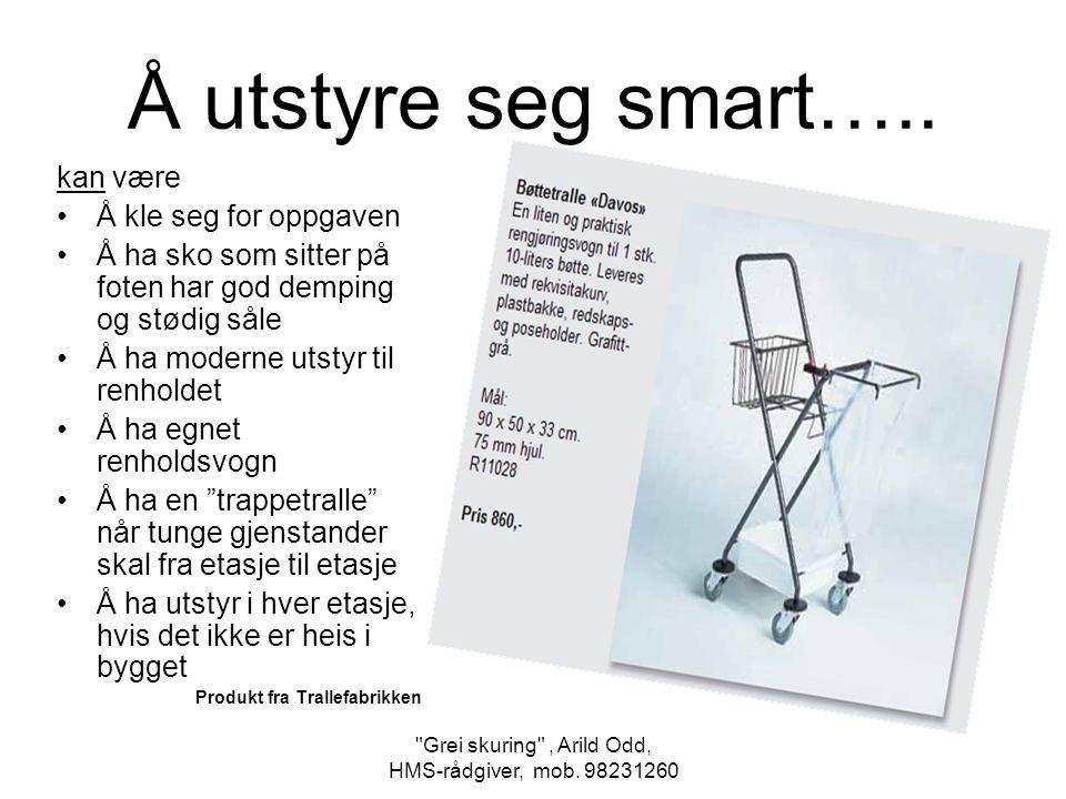 Grei skuring , Arild Odd, HMS-rådgiver, mob.98231260 Å utstyre seg smart…..