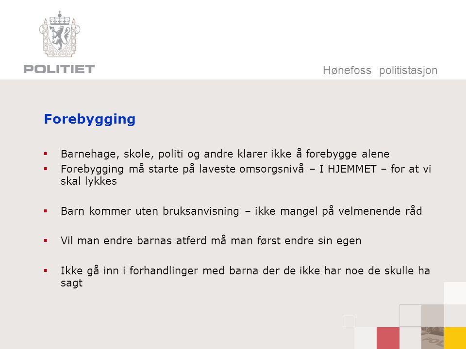 Hønefoss politistasjon Konsekvenser  Finnes det konsekvenser hjemme hos dere i dag.