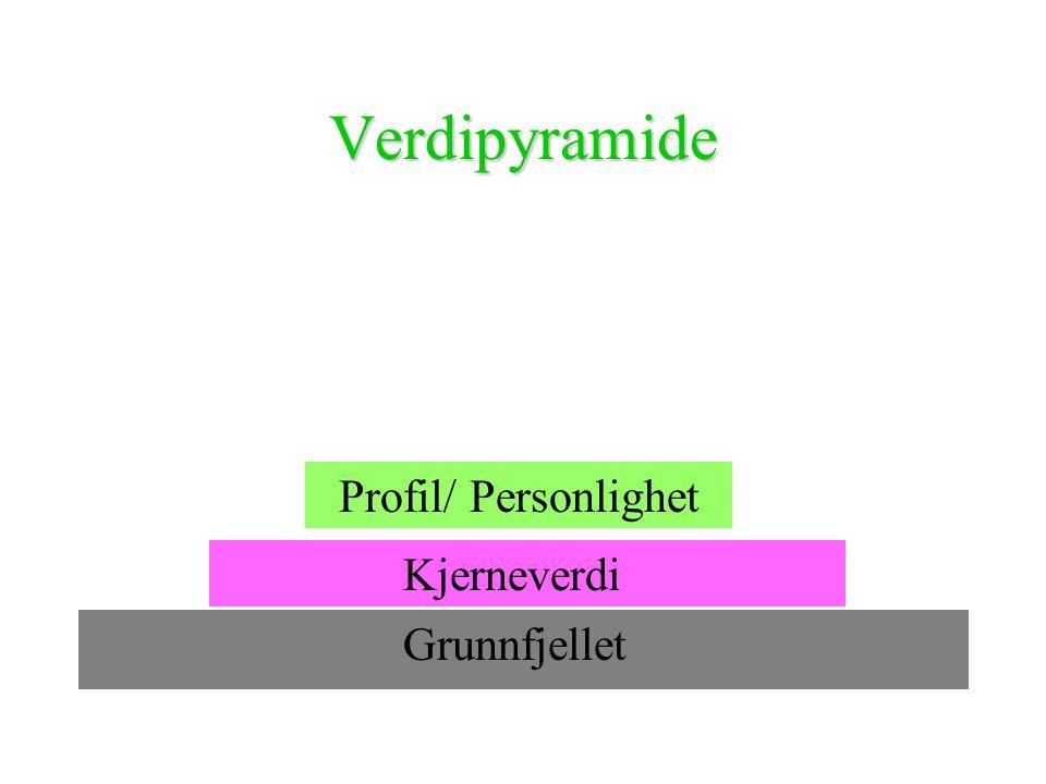 Verdipyramide Grunnfjellet Kjerneverdi Profil/ Personlighet