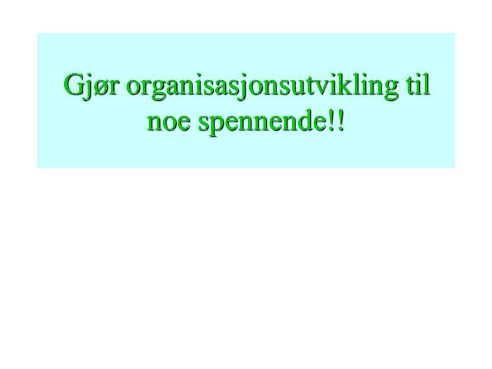 Gjør organisasjonsutvikling til noe spennende!!