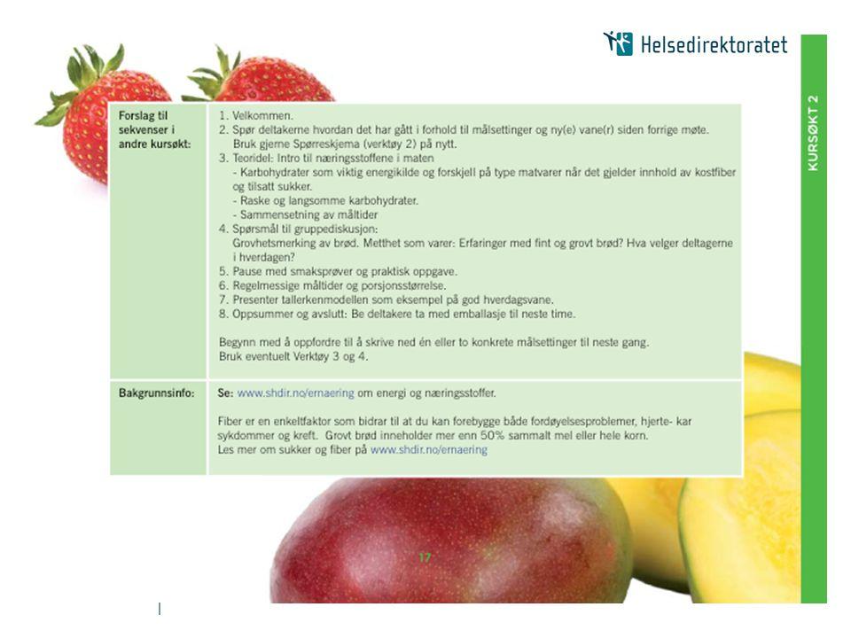| Bra mat- kurstreff 3 Undertekst: Fettkvalitet og varedeklarasjon